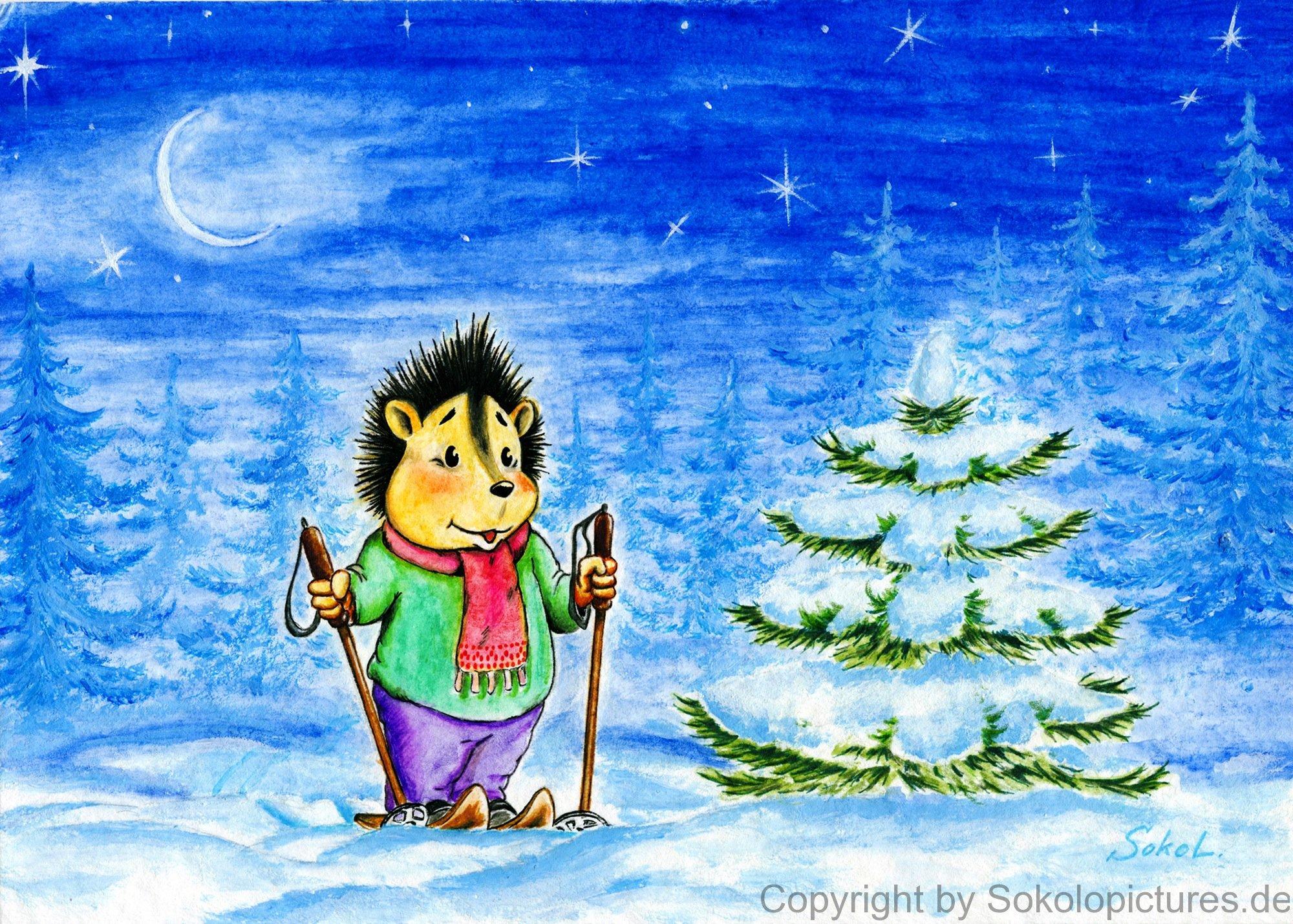 Postkarten zum Thema Weihnachten und Jahreswechsel